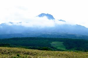 Last shot of Mt Rishiri before the cloud cover.